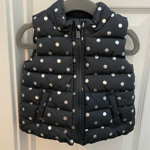 Old Navy Toddler Girl Grey Polka Dot Vest